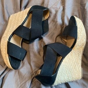 Mossimo Black Stretchy Wedge Heels
